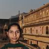 Girl at the Amber Fort, Jaipur