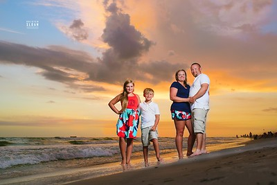Sunset Family Portraits at Treasure Island Beach Florida
