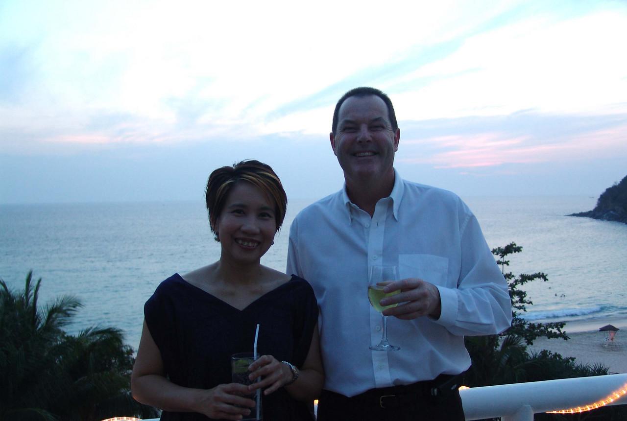 Orapim and Keith Feb 04 Phuket