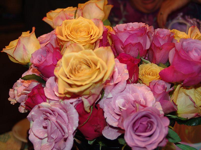 Birthday roses.
