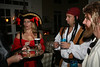 By this point in the night, Stacy the pirate was out of focus in real life, too!