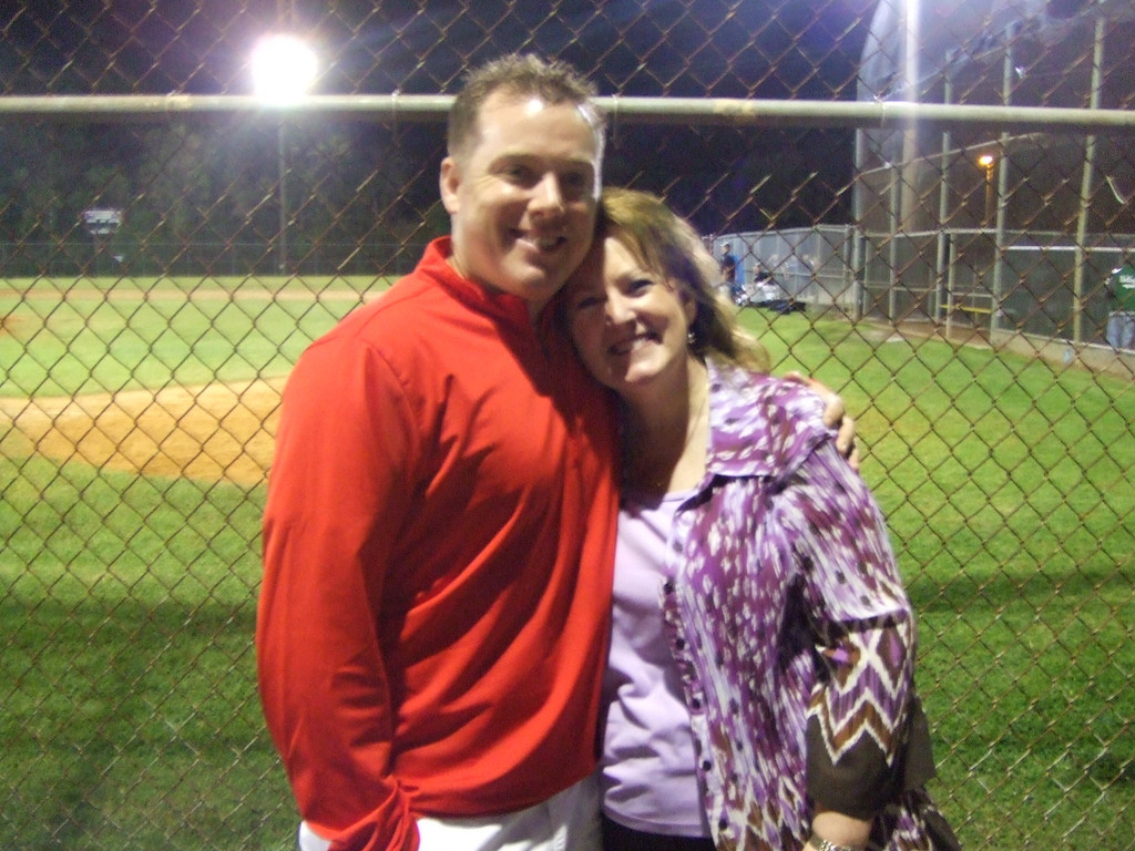 Kyle and I at Connor's game Friday night - 27Mar09
