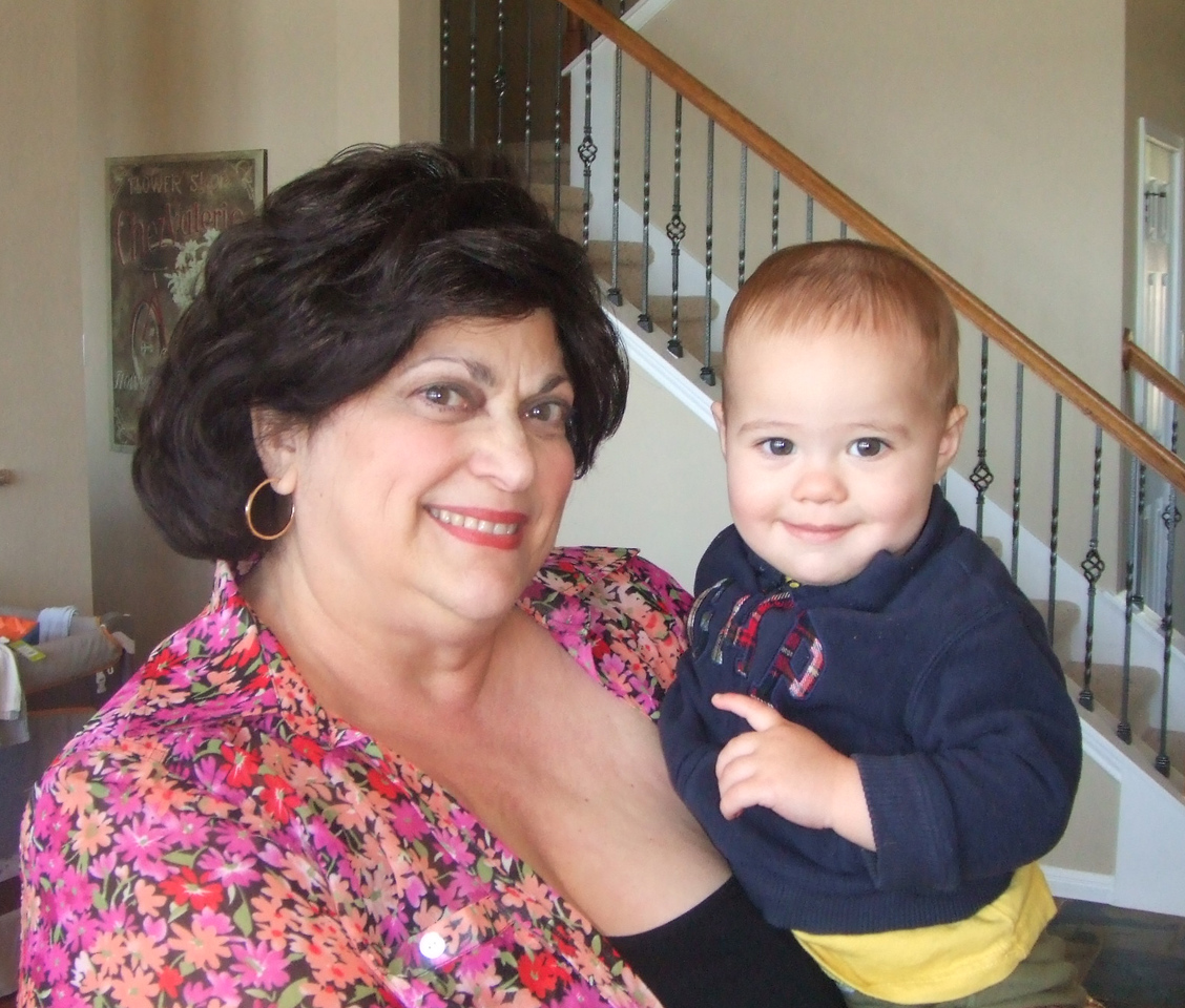 Gramma Booba and Nicky at Vicci and Dan's place Saturday -  28Mar09