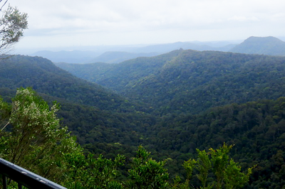 View from Canyon Lookout - start of the Twin Falls circuit walk