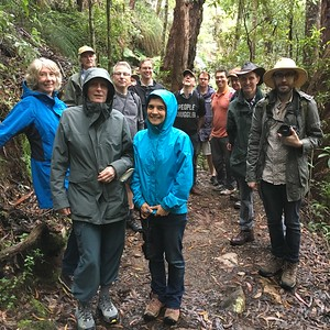 Fourteen of the Symposium participants brave the Twin Falls track