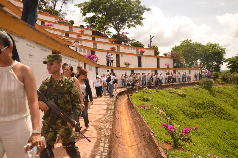 There was a large military presence at the event.  The same battalion that carried out the massacre provided security for the guests that day. The victims, despite their joy surrounding the event, showed some disagreement with that choice.