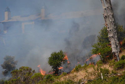 © Joseph Dougherty.  All rights reserved.   From Tunnel Road, the flames could be seen licking up the ridge toward the condos  in the Hiller Highlands neighborhood.