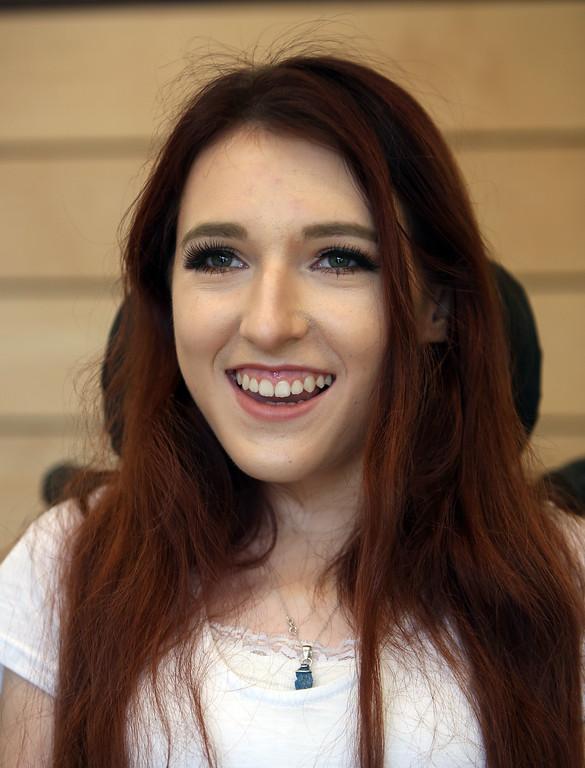 . UMass Lowell rising junior and psychology major Elizabeth Raymond, 19, at UML South Campus. (SUN/Julia Malakie)
