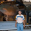Uday in front of a Lockheed P-38 Lightning