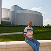 Uday in front of the Udvar-Hazy Museum