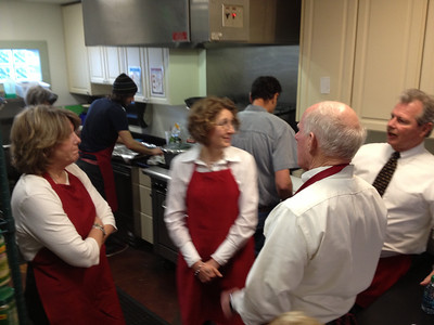 The kitchen staff and serving staff got along well - especially after agreeing that tips would be shared by all!