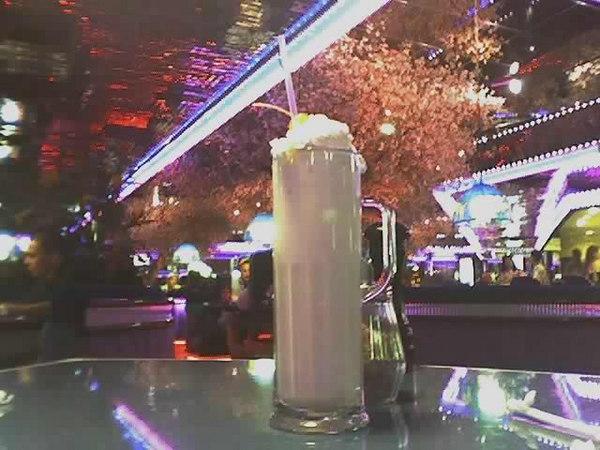 The second biggest milkshake I've ever seen! Peppermill, Las Vegas.