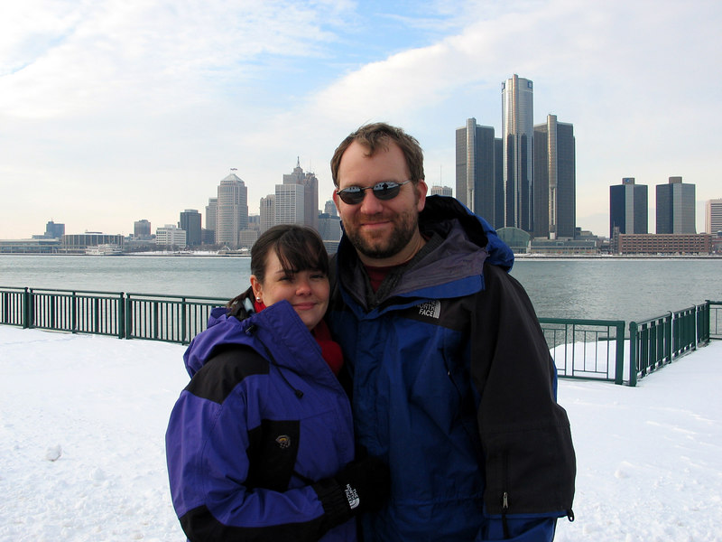 December 2005.  Windsor, Canada, with Detroit in the background.  We basically just went over so Elizabeth could say she had beed to Canada.