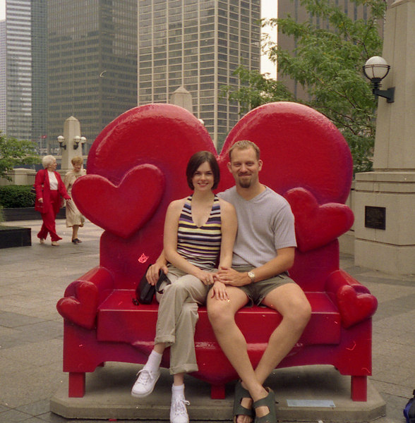Chicago, 2001.  Elizabeth's first trip to Chicago.