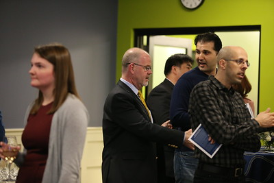 Dean of the Business School, Catherine Usoff reception.  Thursday, Feb. 22, 2018, in North Andover.  Photo by Mary Schwalm