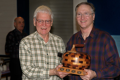 Dave Harding presents Fletcher Trophy to Brian Thomson
