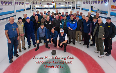 March 2011 Seniors' Curling Windup Group Photo