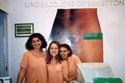 """The girls of Undercolors of Benetton- Espana"" (Barcelona, Spain).Chicas Vendoras en Tienda ""Undercolors of Benetton""."