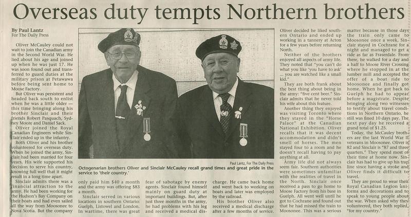 Timmins Daily Press 2005 Nov 11 page C3