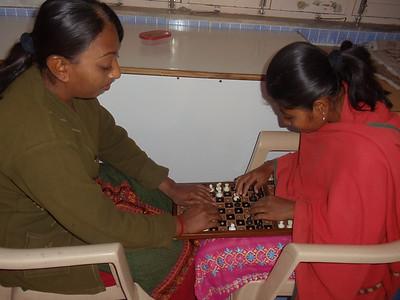 Blind Girls Playing Chess