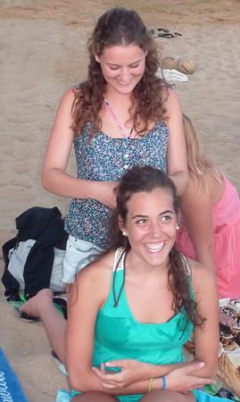 Rachel & Laia braids 071411