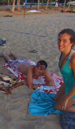Julien & Laia Waikiki Beach 071311