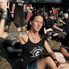 Sabine Weber from Knittelfeld, Austria at Wacken Open Air 2011. Tattoo by Harry Wazek of Tattoo Nation. Outer upper arm: grim reaper, inner upper arm: a beautiful young lady. This signifies that death is only an outer characteristic - life is on the inside. (2 of 2)