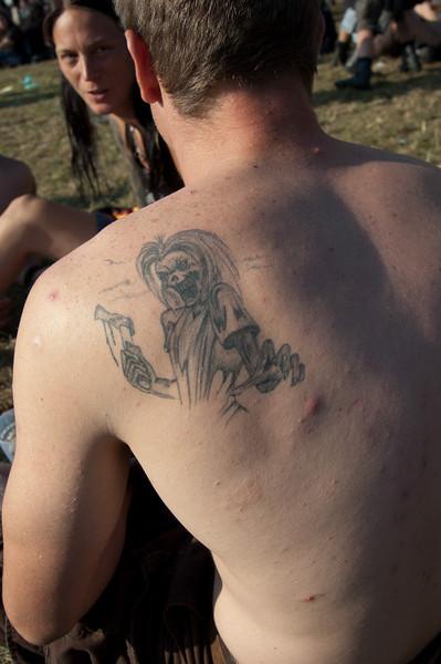 """Iron Maiden's """"Eddie"""" -tattoo at Wacken Open Air 2011"""