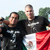 Two fans of Satanic Warmaster from Mexico (flag) and The Netherlands find each other at Wacken Open Air 2011