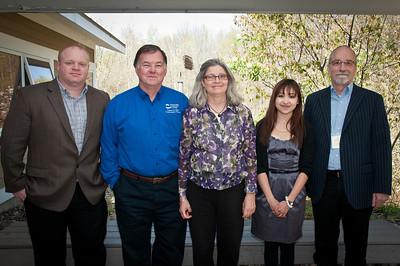 Eaasyists Dan Schoonmaker, Brian Schultz, Anne Reynolds, Allison Arnold, and John Ziech.