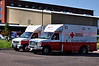 "American Red Cross Disaster Relief Team getting restocked on Monday morning, July 2, 2012, from Care and Share, Colorado Springs, Colorado, USA. They are providing relief to people in the Pikes Peak Region, that were and still are affected by the most destructive fire in Colorado""s history."