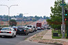 Updated picture of the food drive from around 1PM June 27, 2012. 100's of vehicles pouring into Care and Share starting on Constitution and wrapping all the way around their building with people bringing in donations in support of the Waldo Canyon Fire. What a BLESSING and an awesome show of SUPPORT!!! These donated supplies are helping evacuees and many other people that are working with the disaster, that appears to be one that will take weeks to control.