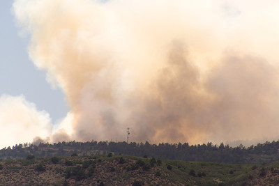 Waldo Canyon Fire - Began on 06-23-2012 ~ Taken from in front of our condo.