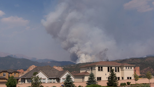 06-24-2012 at 10:00 a.m. - The fire is growing. - Taken from the front of our condo.
