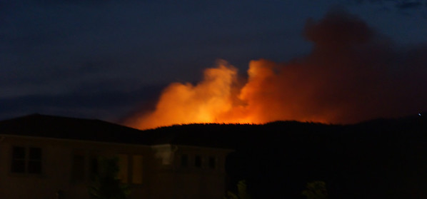 Waldo Canyon Fire - Began on 06-23-2012 ~ Taken between 9 and 9:30 p.m. ~ Handheld w/telephoto did not yield the best/clearest shots.