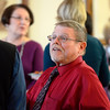 Walter Poirier, who is retiring from his position as the assessor for the city of Leominster, talks to attendees during his retirement party at Leominster City Hall, Thursday.<br /> SENTINEL & ENTERPRISE / BRETT CRAWFORD