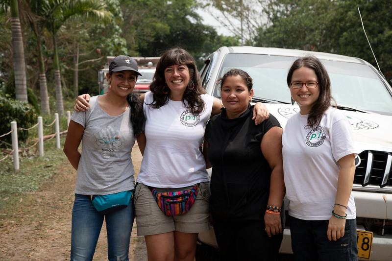 PBI accompanies Cristy (left) from Cahocupana in the village of Campo Vijao, municipality of Remedios (Antioquia) as she prepares and holds the Fourth Gathering of Women Small-Scale Farmers from Northeast Antioquia.<br /> <br /> Foto reportage realised by Bianca Bauer