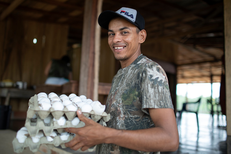 Jonathan is also part of Cahucopana; he is one of the people in charge of logistics during the women's gathering.
