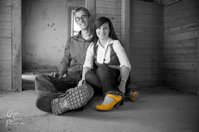 Another shot from our engagement session.  I liked the yellow shoes.