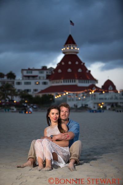 Engagement at Hotel Del Coronado
