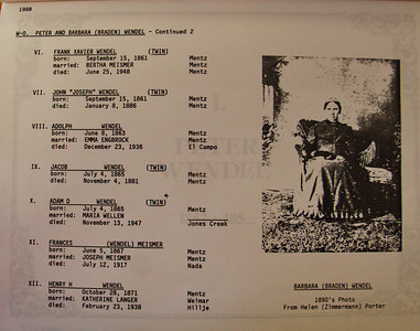 List of Peter Jacob Wendel's children (my great-great grandfather)