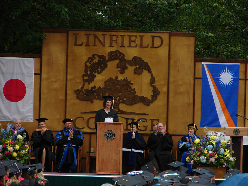 A typical graduation speech, complete with obligatory cliches du jour
