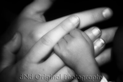 Weronski Family Hands adj soft bleach b&w