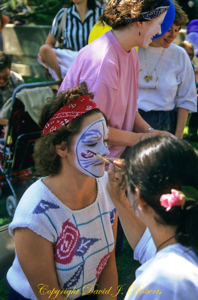 Face painting at Folklife, Seattle