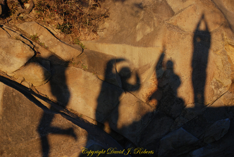 Shadow People @ Clayton Beach in the late day sun