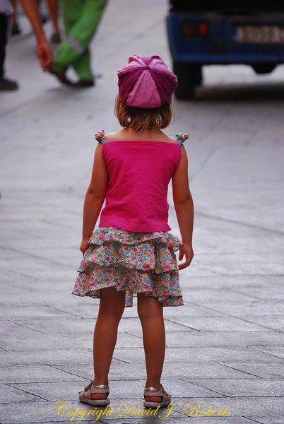 Little girl, Barcelona, Spain