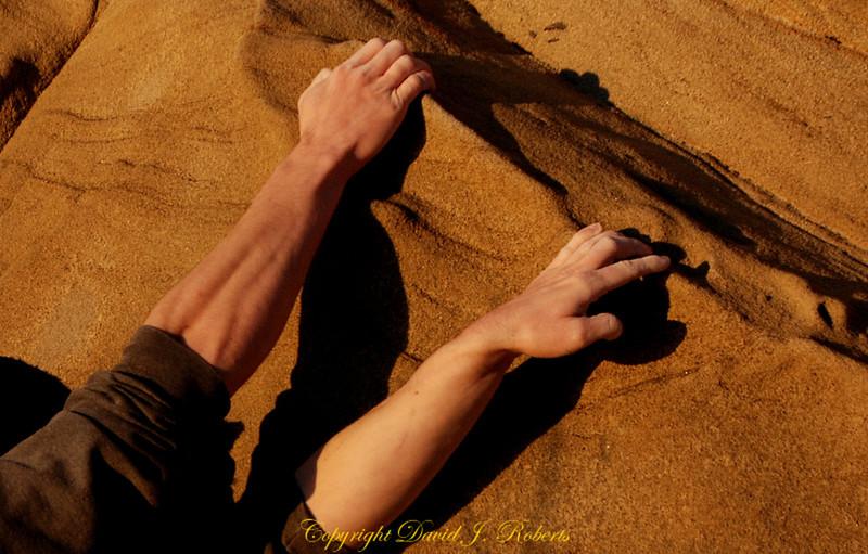 Climber's hands, Clayton Beach