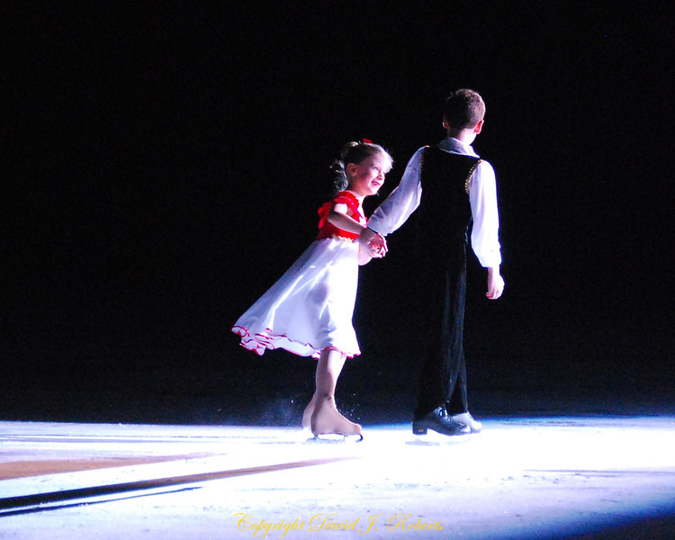 Pairs skating for young couples