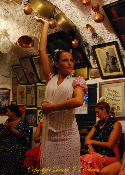 Flamenco dance, Albaicin, Grenada, Spain