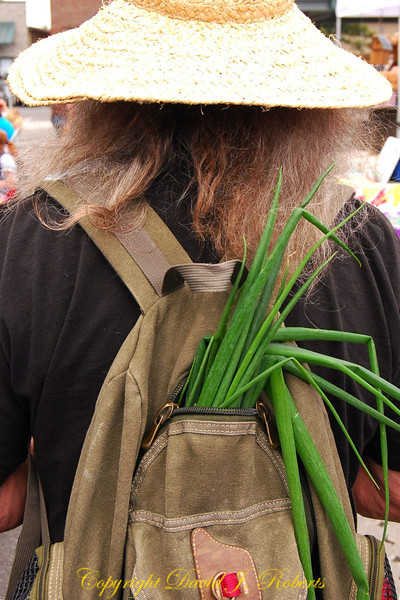 Onions in a rucksack